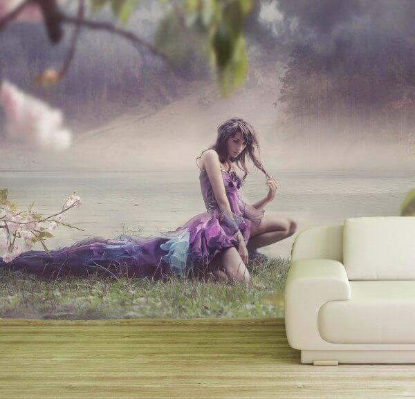 Vlies Tapete Poster Fototapete Fantasy Romantik See Elfe