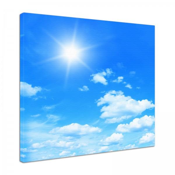 Leinwand Bild edel Natur Himmel im Sonnenschein
