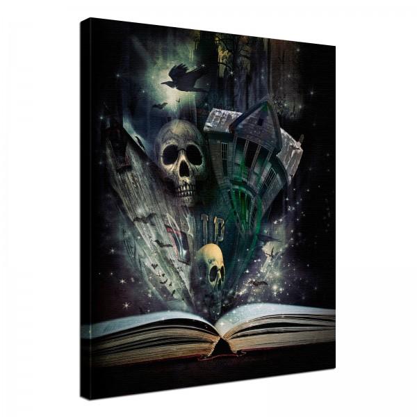 Leinwand Bild edel Gothic black Stories