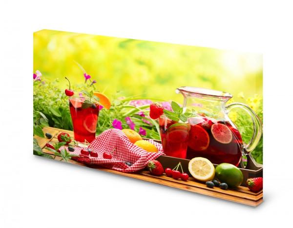 Magnettafel Pinnwand Bild Sommerbowle Bowle Sommer Früchte