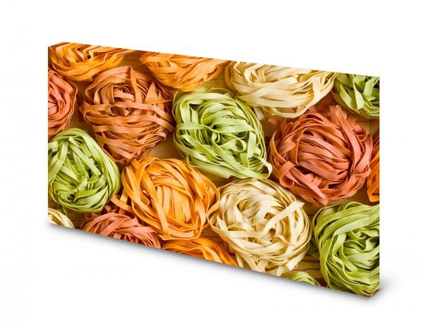 Magnettafel Pinnwand Bild Nudeln Pasta bunt Küche XXL gekantet