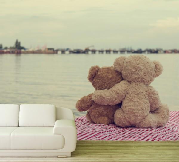 Vlies Tapete Poster Fototapete Teddy Freunde Freundschaft