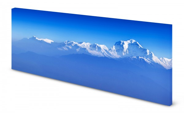 Magnettafel Pinnwand Bild Panorama Berge Bergspitze Gipfel gekantet