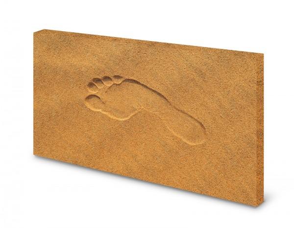 Magnettafel Pinnwand Bild Spuren im Sand XXL gekantet