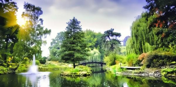 Magnettafel Pinnwand Bild XXL Panorama Japanischer Garten