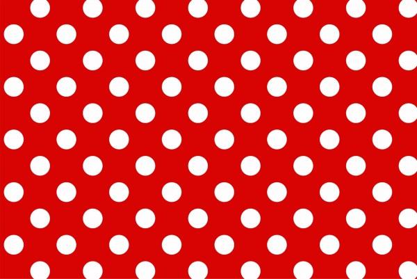 Magnettafel Pinnwand XXL Bild Polka Dots punkte rot weiß