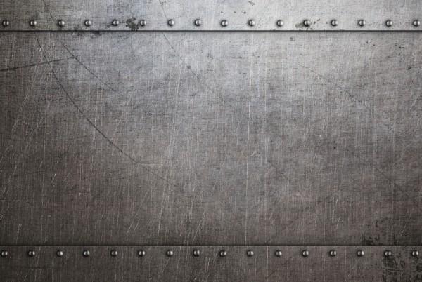 Magnettafel Pinnwand XXL Metall alt Nieten Stahl Stahloptik