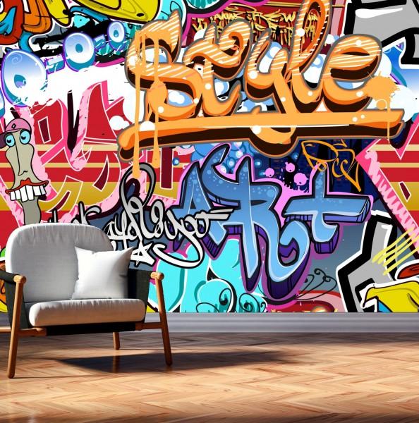 Vlies Tapete Poster XXL Fototapete Graffiti Street Art bunt