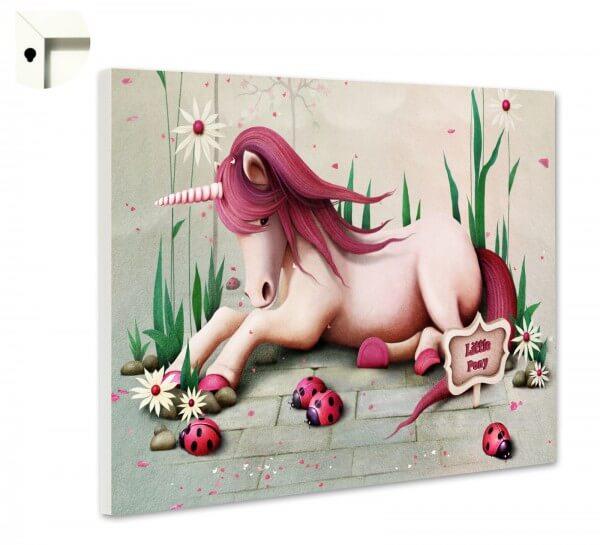 Magnettafel Pinnwand Kinder Einhorn rosa