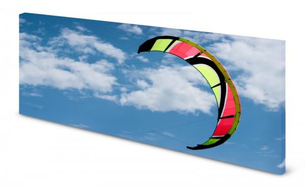 Magnettafel Pinnwand Bild Kite Kitesurfen Himmel gekantet