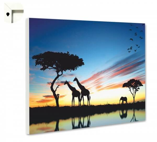 Magnettafel Pinnwand Tiere Afrika Savanne