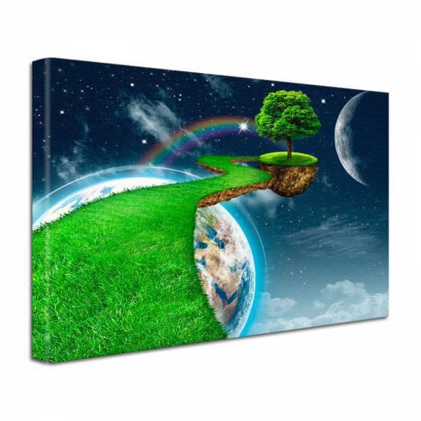 Leinwand Bild edel Fantasy Erde Planet Umwelt
