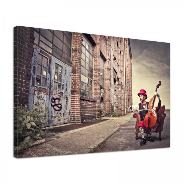 Leinwand Bild edel Cello Industrial Style