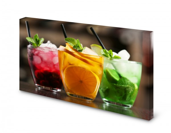 Magnettafel Pinnwand Bild Cocktail Saft Bar XXL gekantet
