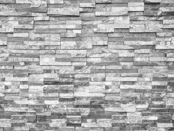 Vlies Tapete Fototapete Mauer Steinoptik Steinwand grau weiss