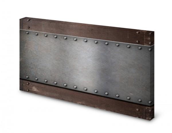 Magnettafel Pinnwand Bild Rost Metall Nieten gekantet