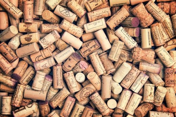 Magnettafel Pinnwand XXL Bild Wein Rotwein Korken Kork