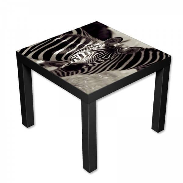 Beistelltisch Couchtisch mit Motiv Tiere Zebra