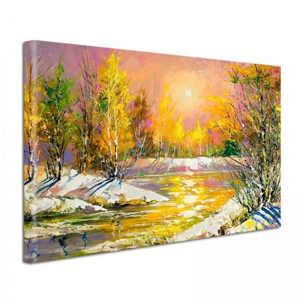 Leinwandbild Gemälde Sonnenschein