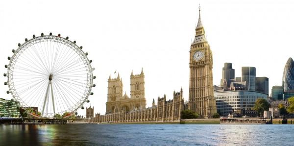 Magnettafel Pinnwand Bild XXL Panorama London England