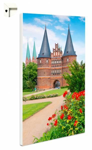 Magnettafel Pinnwand mit Motiv Lübeck Holstentor