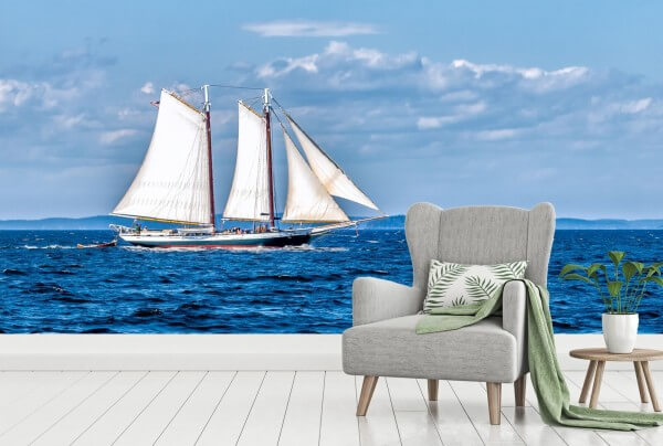 Vlies Tapete Poster Fototapete Panorama See Segelschiff Meer