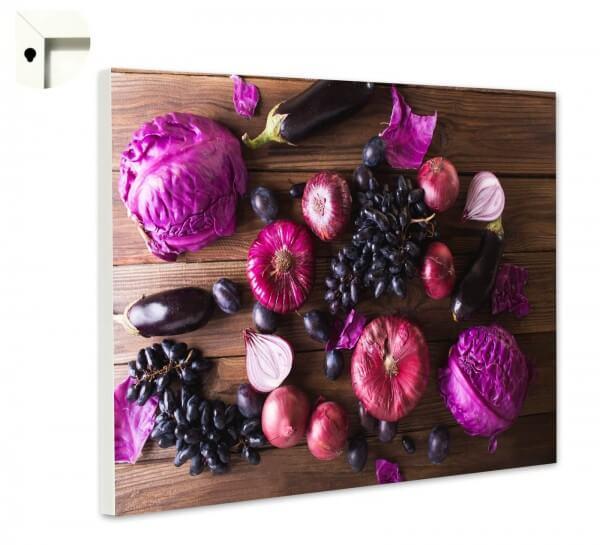 Magnettafel Pinnwand Küche Veggie Love lila