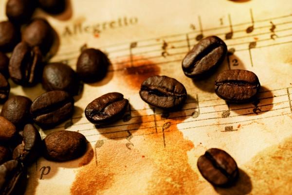 Magnettafel Pinnwand XXL Bild Cafe Kaffee Noten Musik