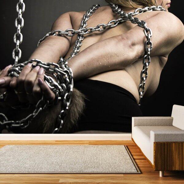 Vlies Tapete XXL Poster Fototapete Erotik Ketten Bondage