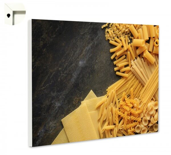 Magnettafel Pinnwand Küche Nudeln auf Schiefer