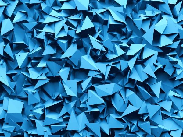 Vlies Tapete Poster Fototapete 3D Effekt Muster blau Zacken