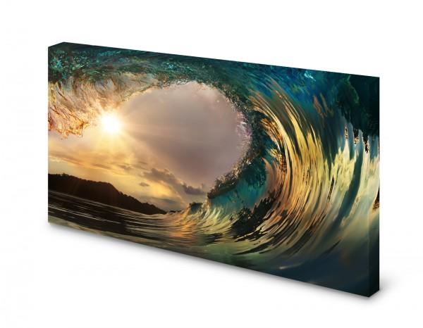 Magnettafel Pinnwand Bild Natur Ozean Meer Tunnel Welle XXL gekantet