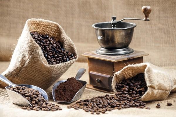 Magnettafel Pinnwand Bild XXL Kaffee Mühle Sack