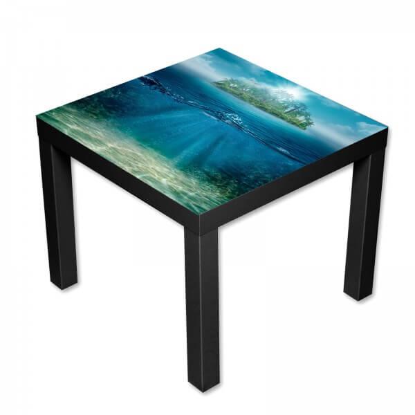 Beistelltisch Couchtisch mit Motiv Lost Unterwasserwelt in blau