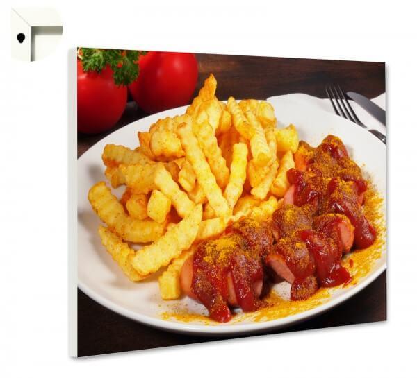 Magnettafel Pinnwand Küche Currywurst & Pommes