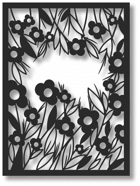 Bild Wandbild 3D Wandtattoo Acryl Mobile Blumen Floral Natur