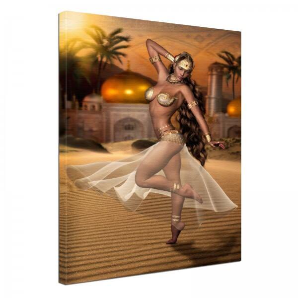Leinwand Bild edel Fantasy Orientalische Schönheit