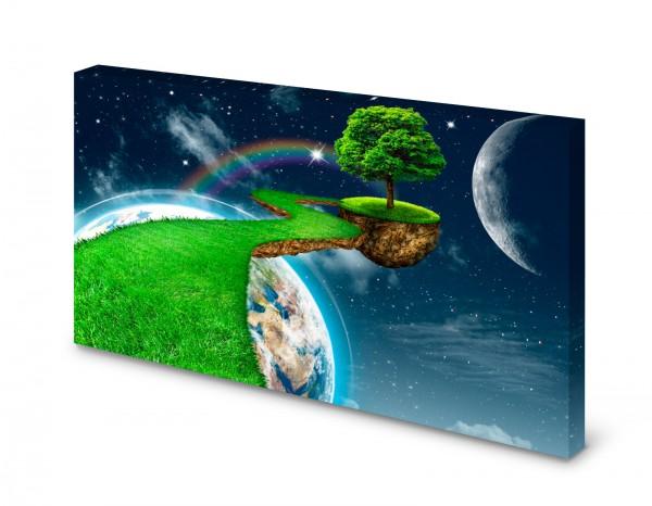 Magnettafel Pinnwand Bild Save the Planet XXL gekantet