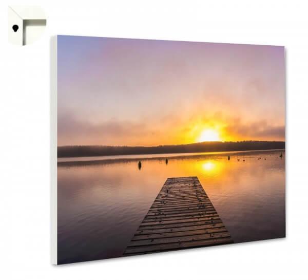 Magnettafel Pinnwand Natur Steg Sonnenuntergang