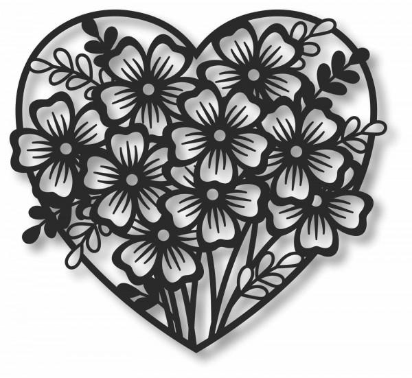 Bild Wandbild 3D Wandtattoo Acryl Mobile Dekoherz Blumen Cut-Out