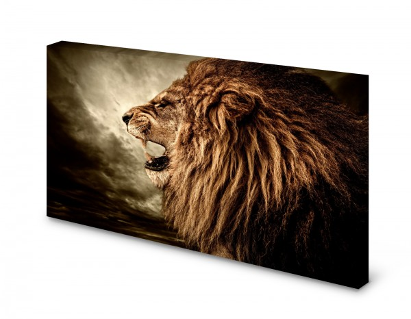 Magnettafel Pinnwand Bild Löwe brüllen XXL gekantet