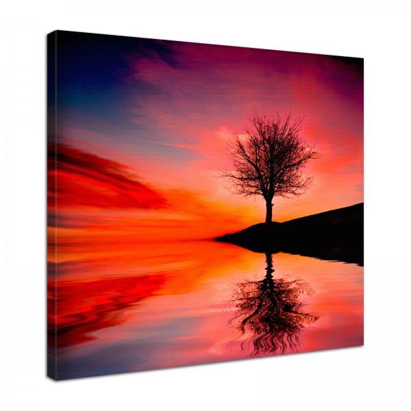 Leinwand Bild edel Natur Lebensbaum 2