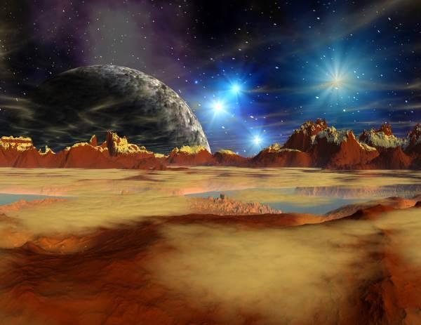 Poster Fototapete Fantasy Wüstenplanet