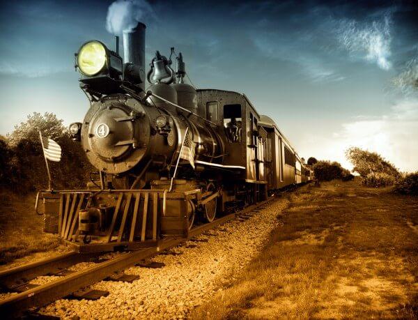Poster Fototapete Lokomotive