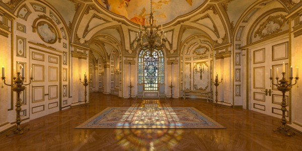 Vlies Tapete XXL Poster Fototapete 3D Effekt Saal Schloss Palast