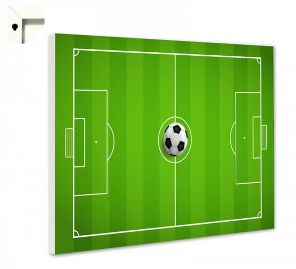 Magnettafel Pinnwand Memoboard mit Motiv Fußballfeld