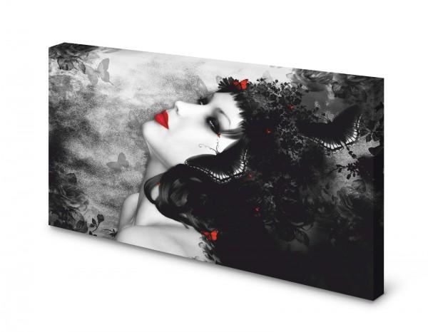 Magnettafel Pinnwand Bild Gothic Lady XXL gekantet