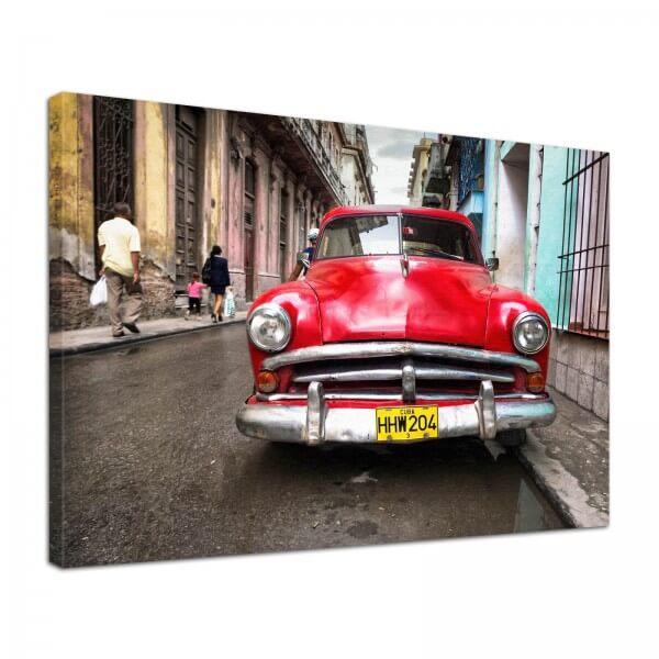 Leinwand Bild edel Oldtimer Kuba