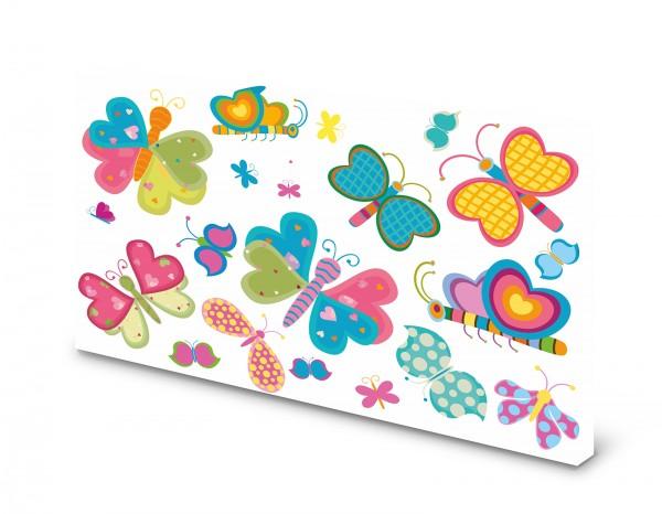 Magnettafel Pinnwand Bild Schmetterlinge XXL gekantet