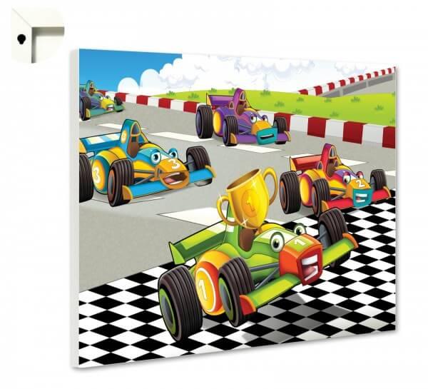 Magnettafel Pinnwand Kinder Autorennen
